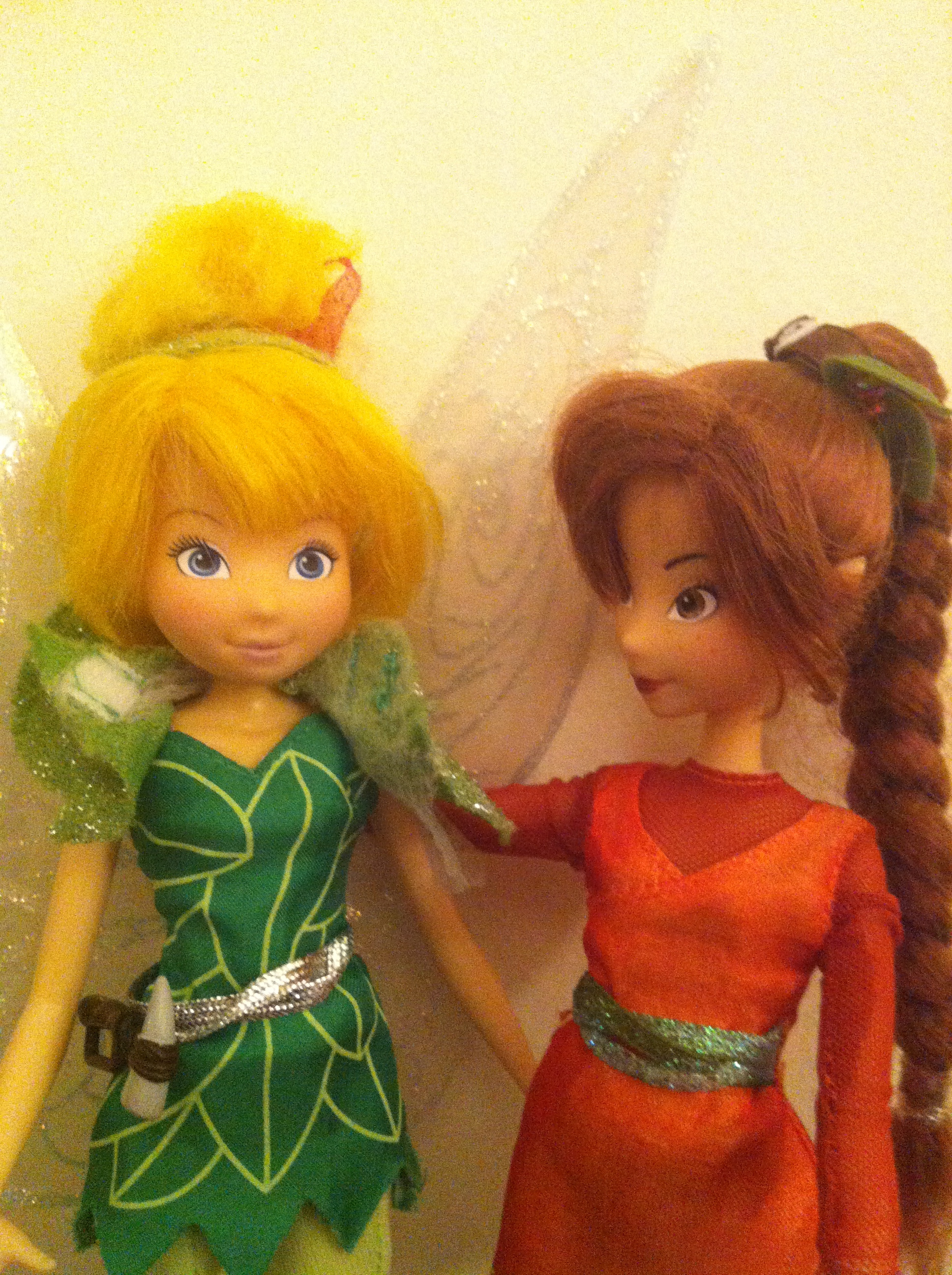 In the weeks since her unfortunate accident, Tinkerbell has turned to her fellow fairies for support and is gradually learning to spread her wings again. Her pants will not come off again, nor will her little green cape, which is now forever crazy-glued to her stunted neck.