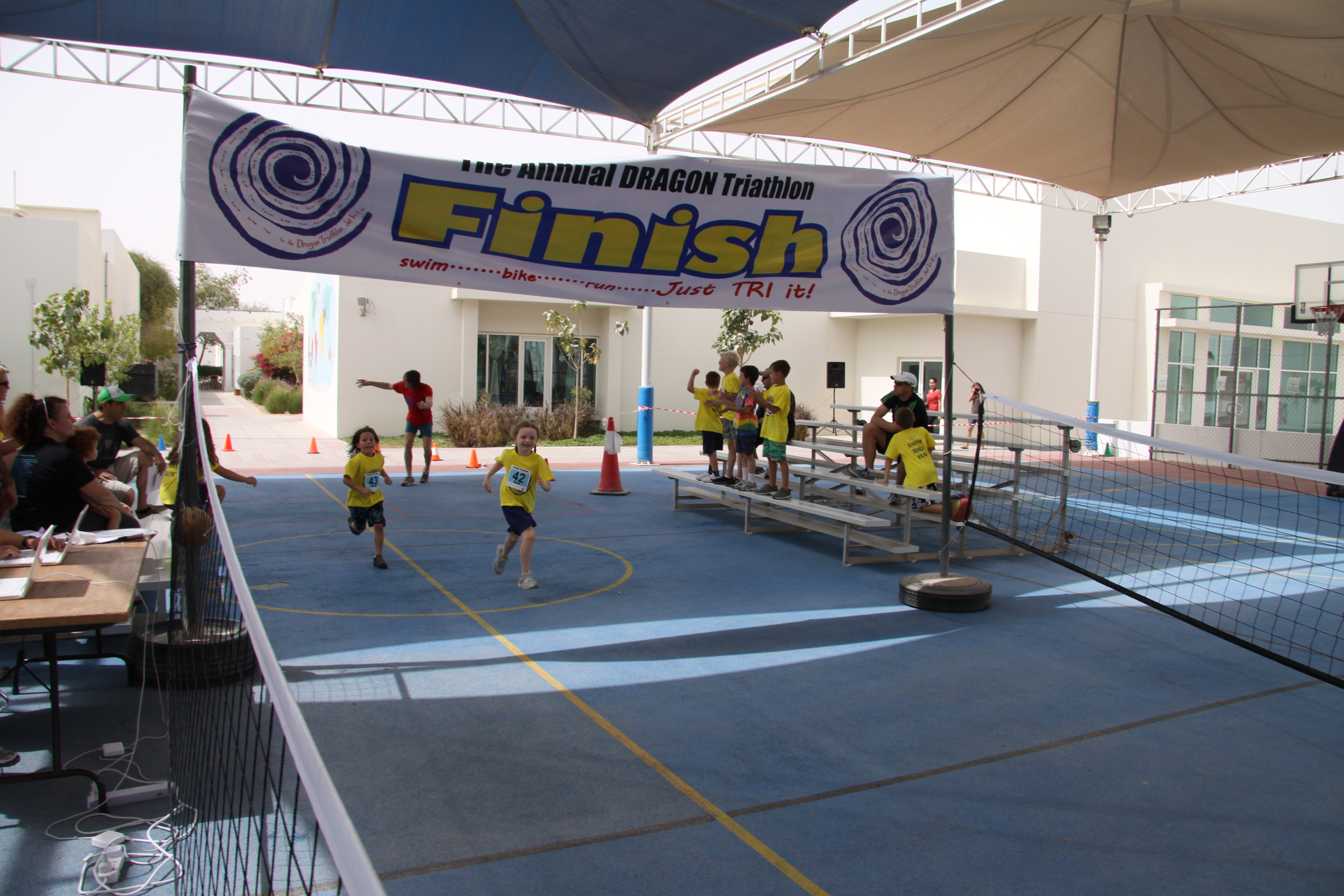 Crossing the Finish Line - Triathlon 2012!