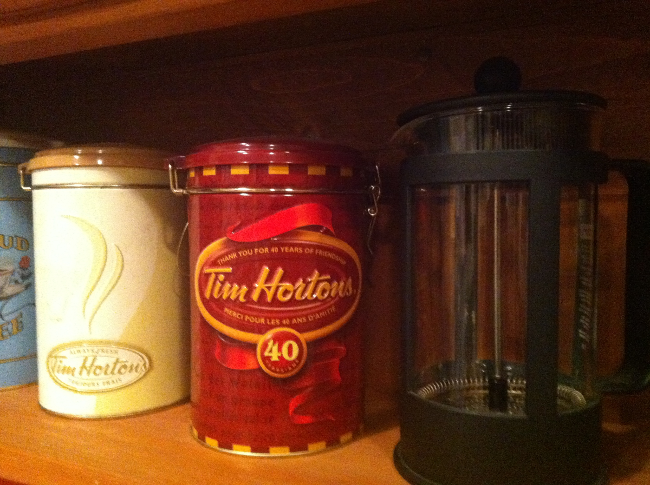 Canisters sit empty on our shelves, a stark reminder of what was, and what one day may be again ...