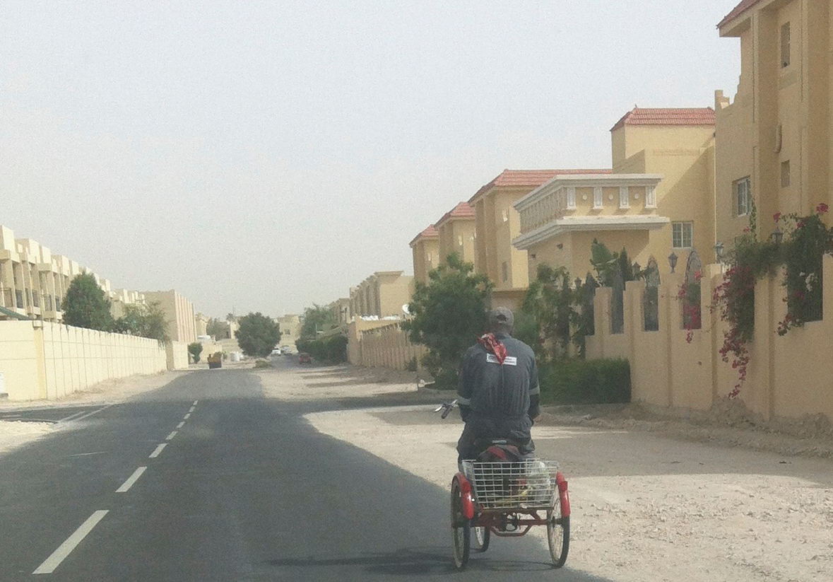 Cycling in Doha ...