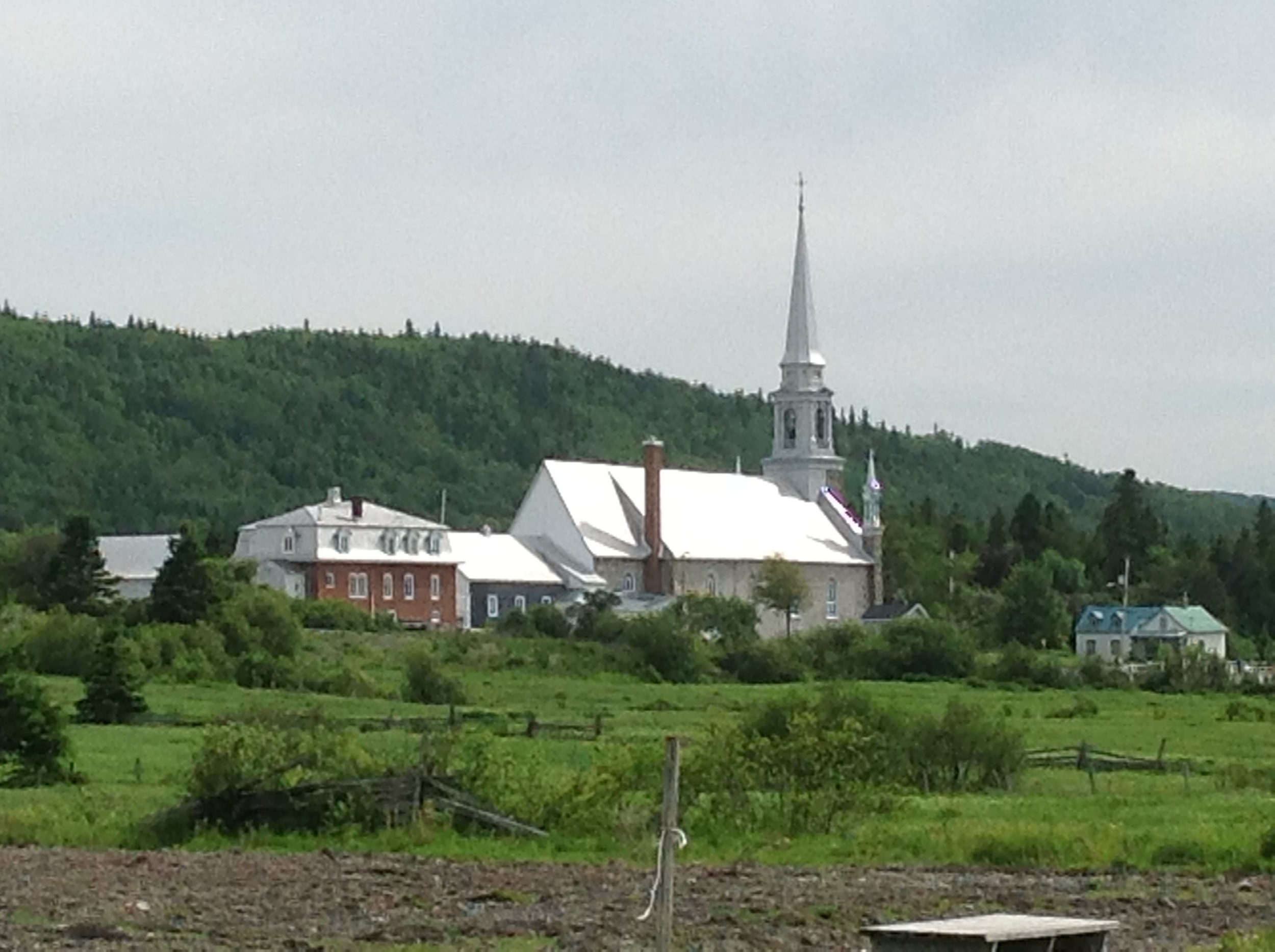Church steeples in Canada.