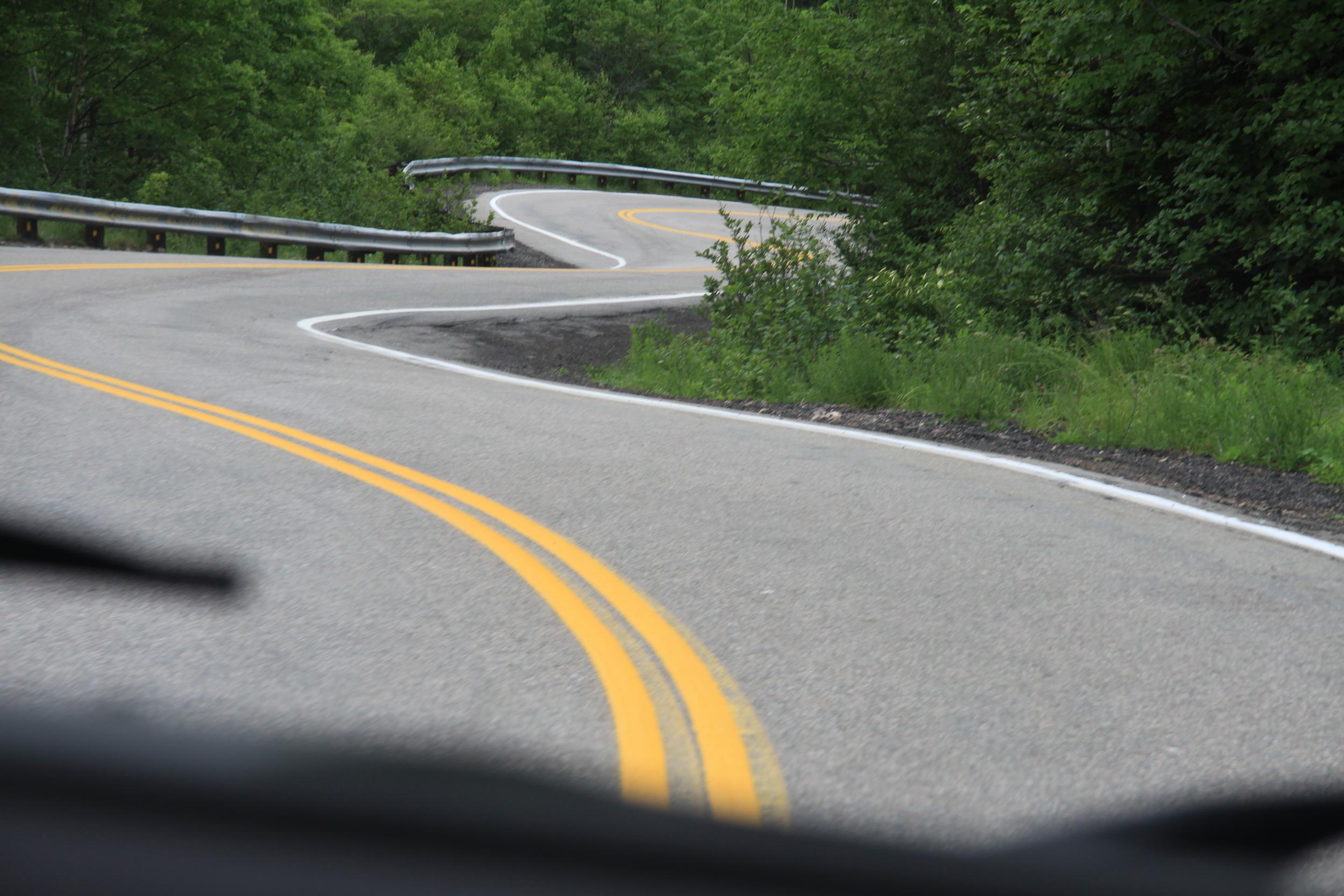 Road in the Cape Breton Highlands (Nova Scotia, Canada)