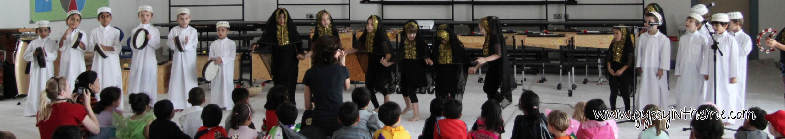 Traditional National dance performed by expat kids as part of International Day activities at school.
