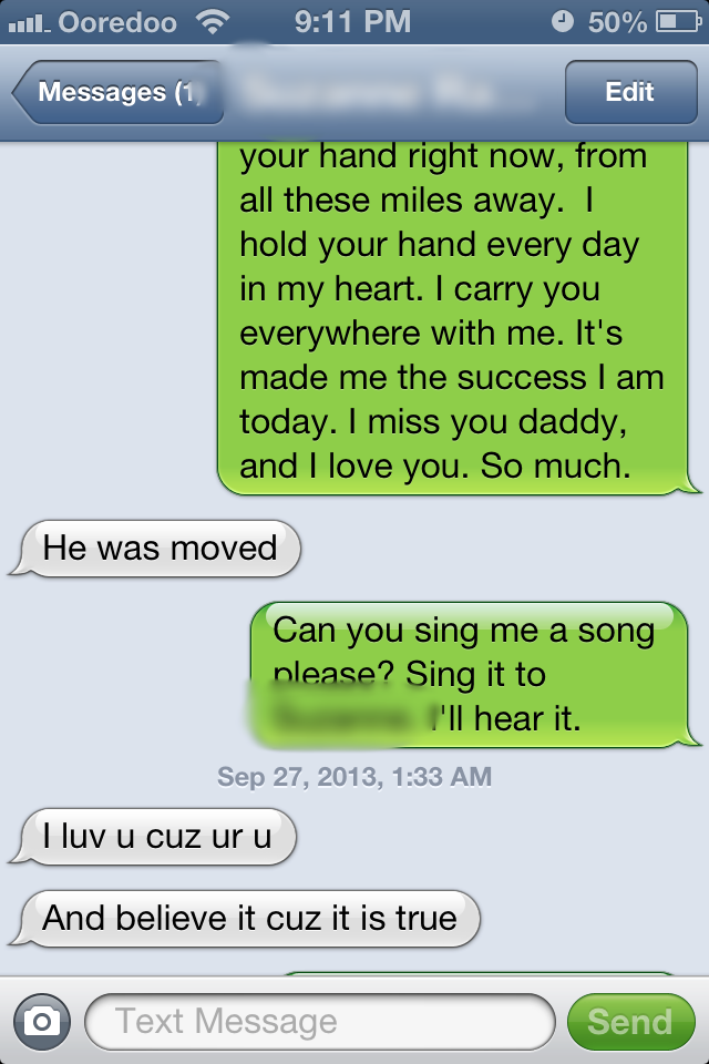My text in green ...