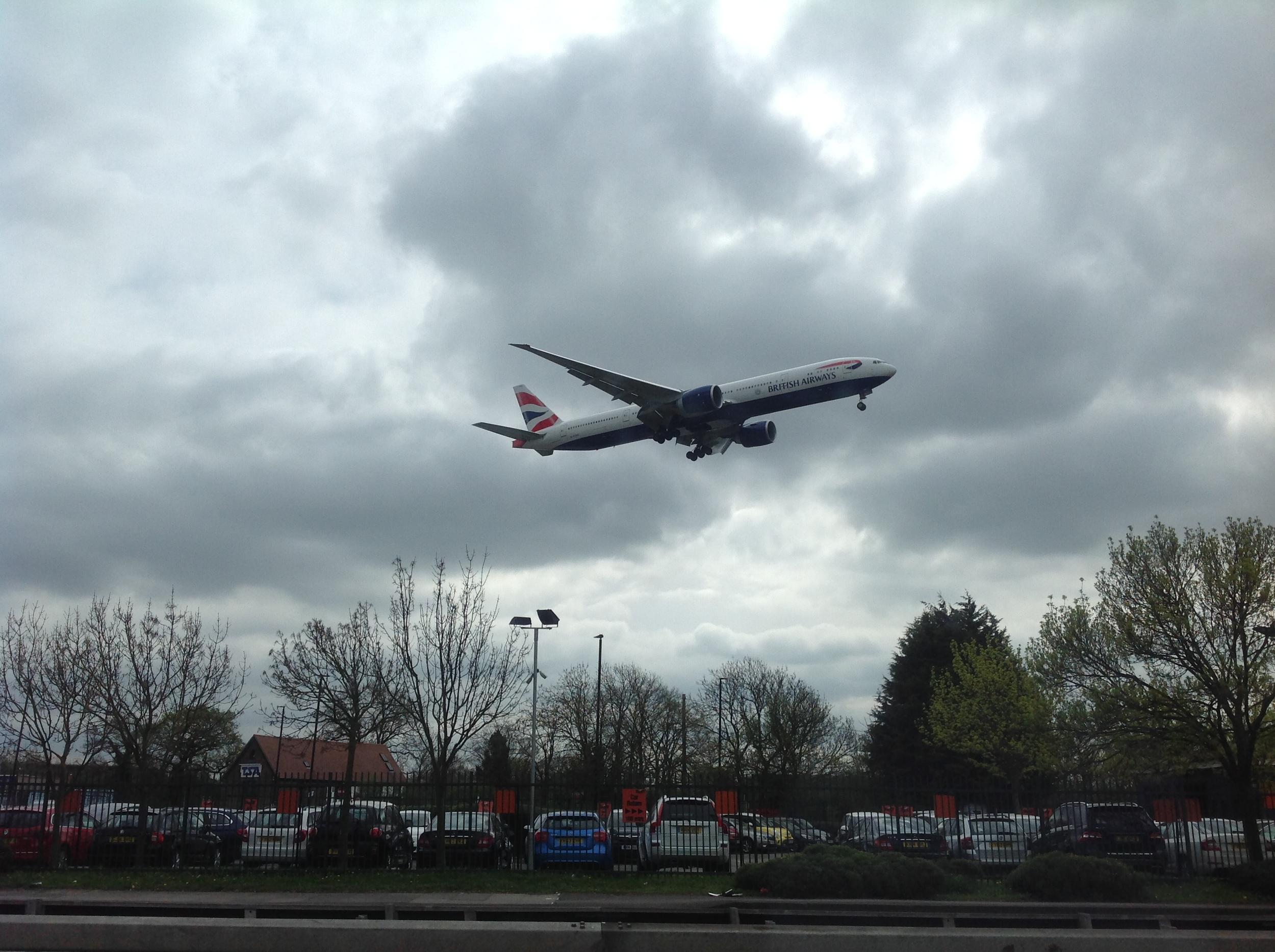 Landing in London ...
