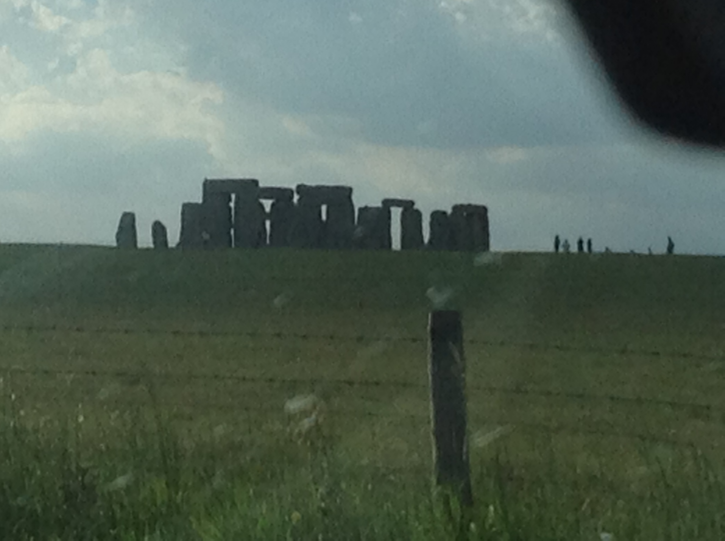 Stonehenge ... not a great picture; taken with the i-pad as we were stuck in a traffic jam ....