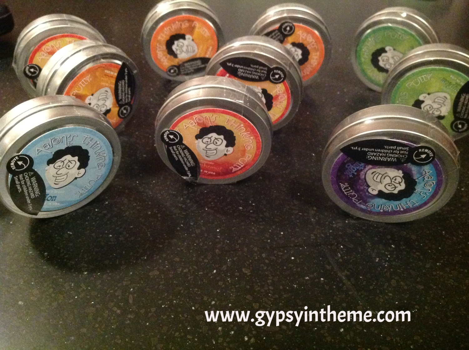 Silly putty party favours for the kids at Summer Camp.