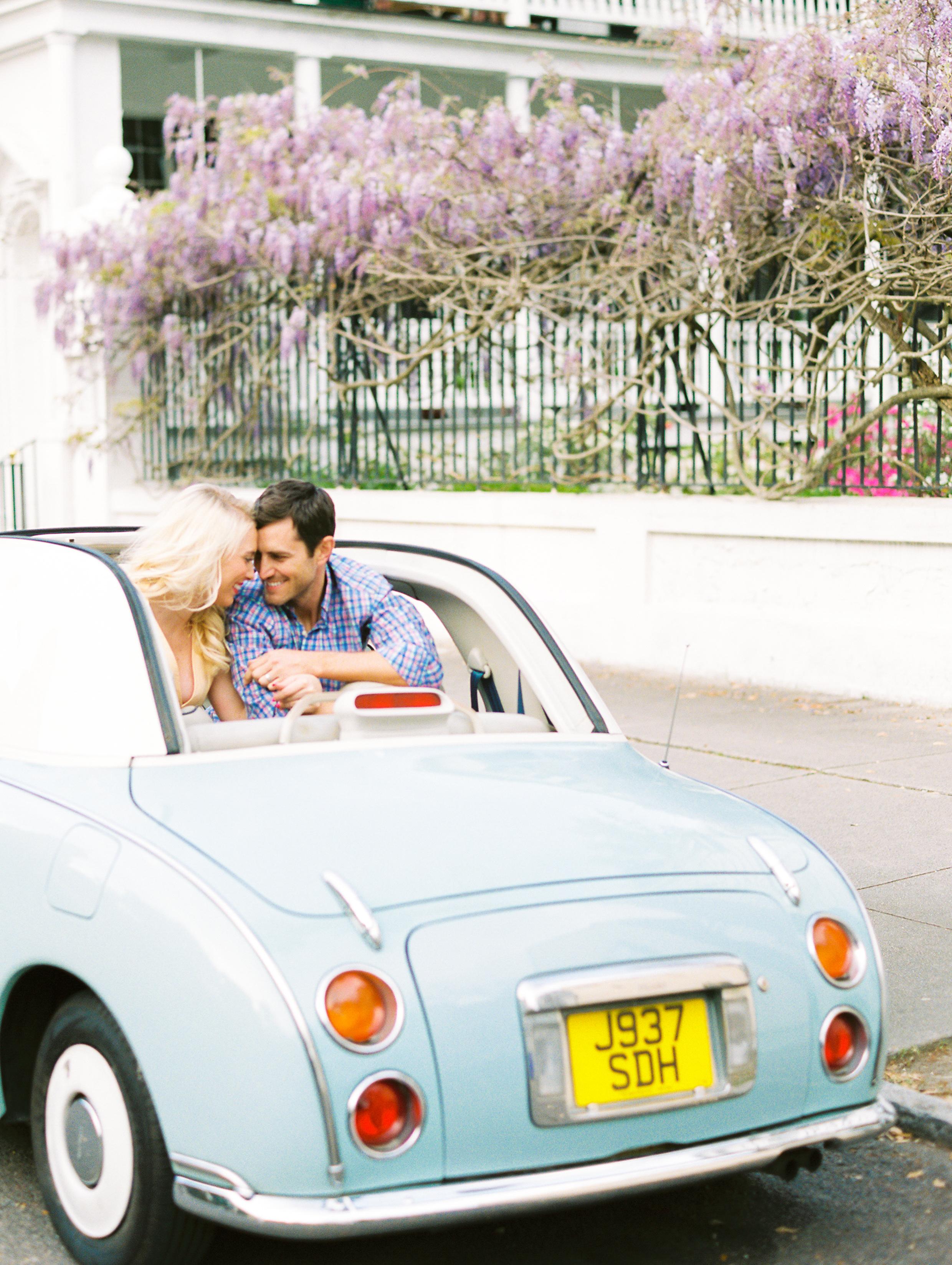 Coastal Bride - Downtown Wisteria Vintage Car Anniversary   Jaime & Erik