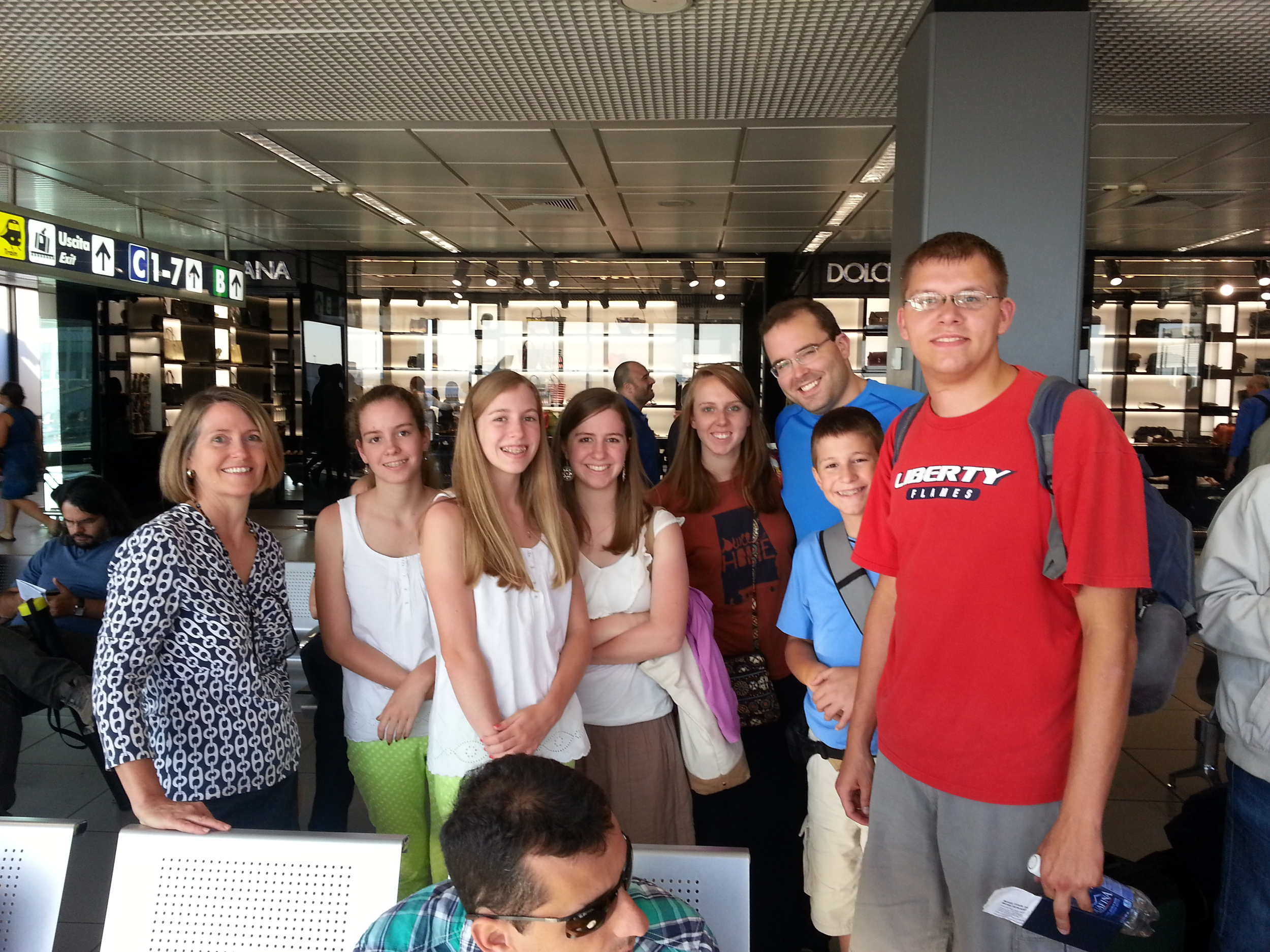 Our team waiting in Rome to depart to Athens