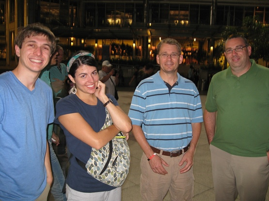 Our team from JFBC (minus Bryan who took the picture) at the fountains downtown.
