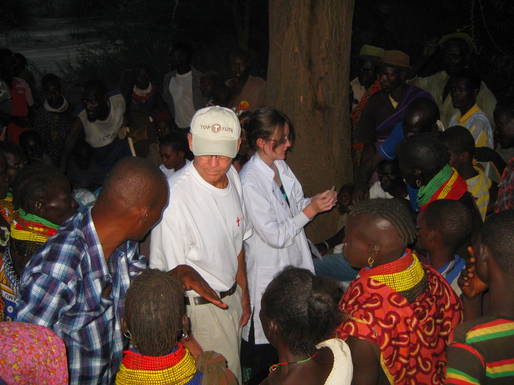 Medical team in Turkana tribal village