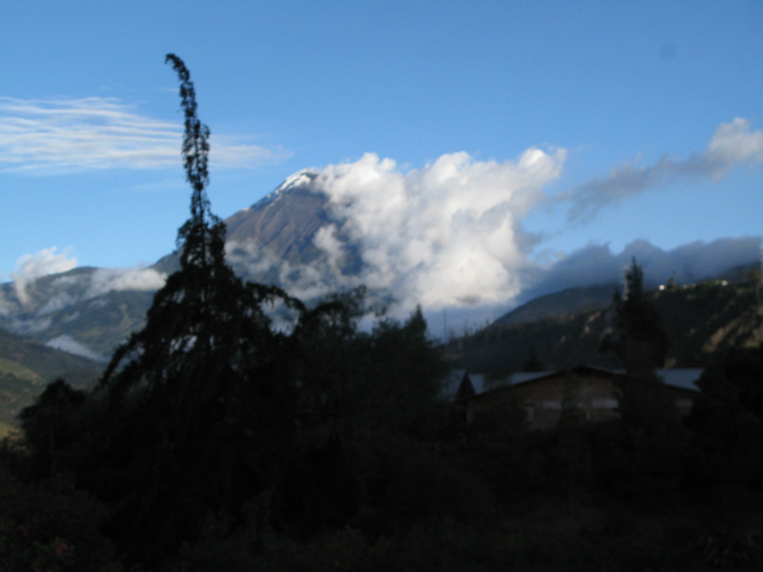 Tunguhuara from the mountain camp