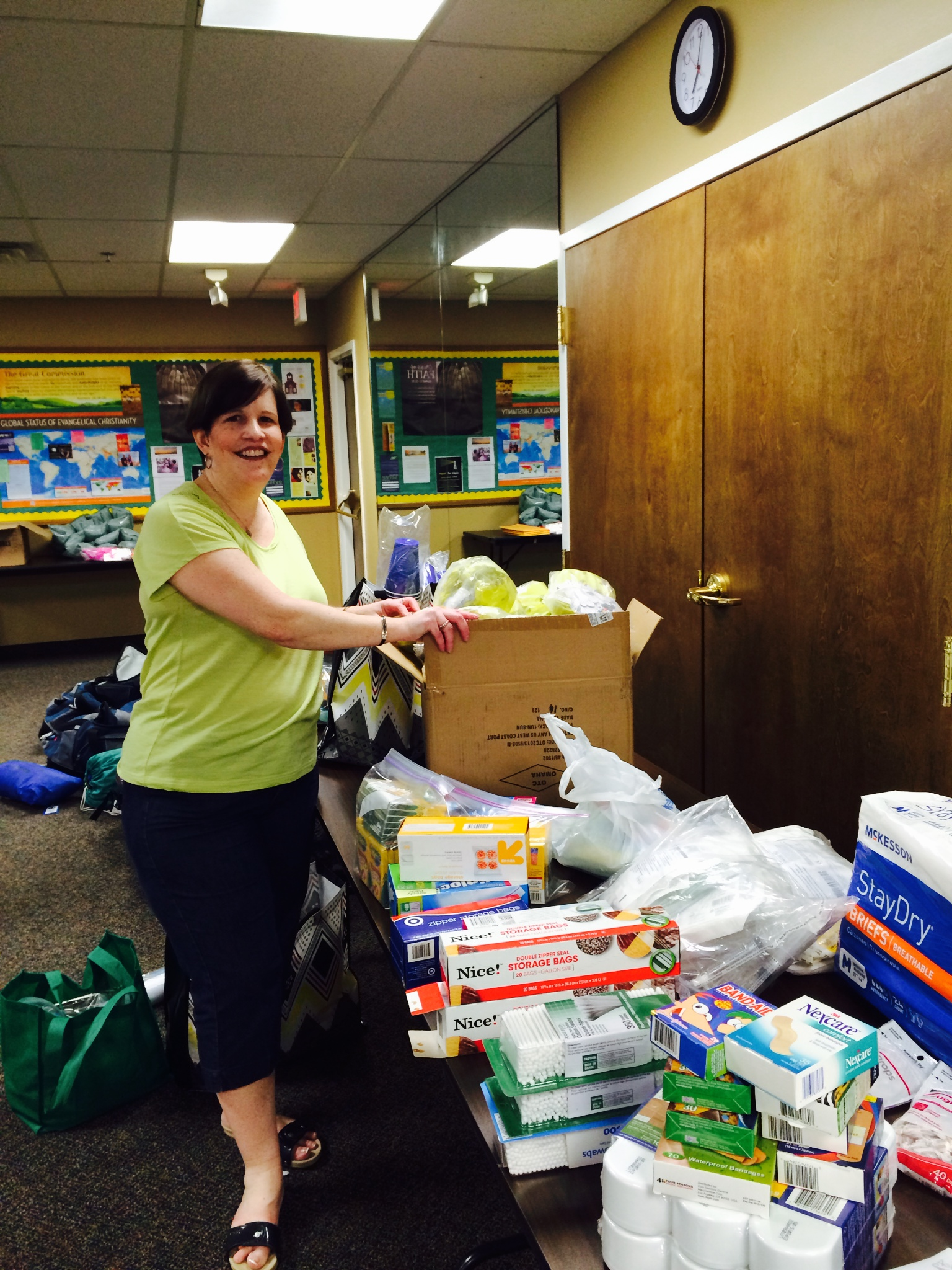 Maureen is our VBS Coordinator and has done a lot of work getting ready for the children we'll teach in Ecuador.