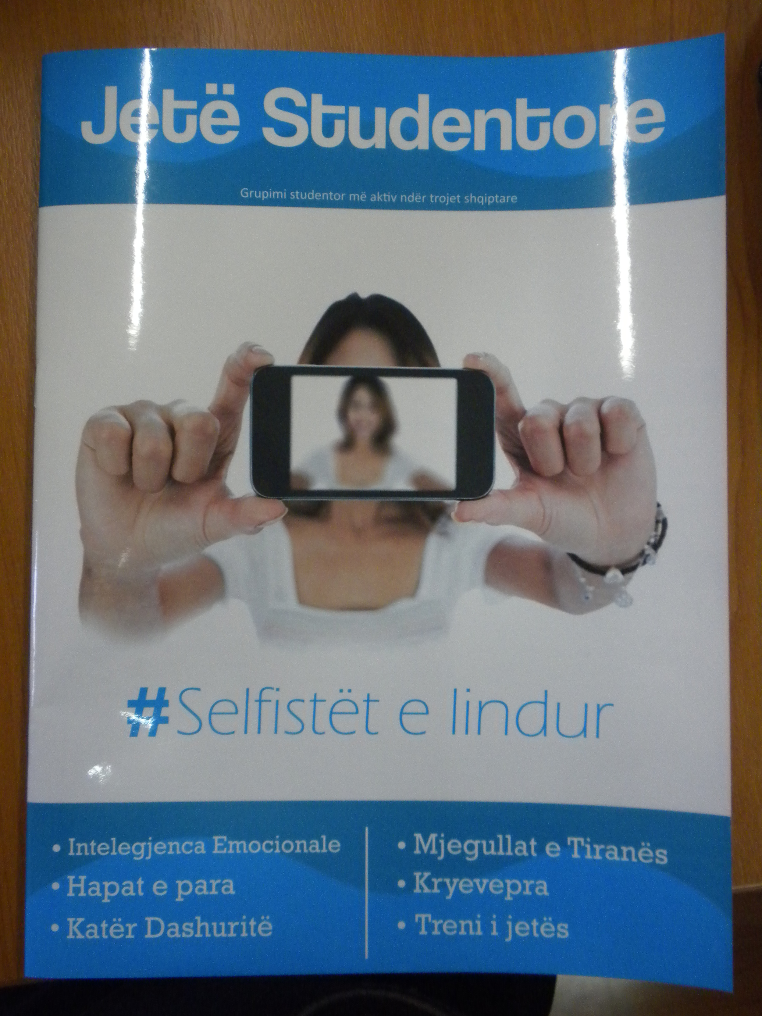 The magazine that will be distributed to students on all of the university campuses in Albania