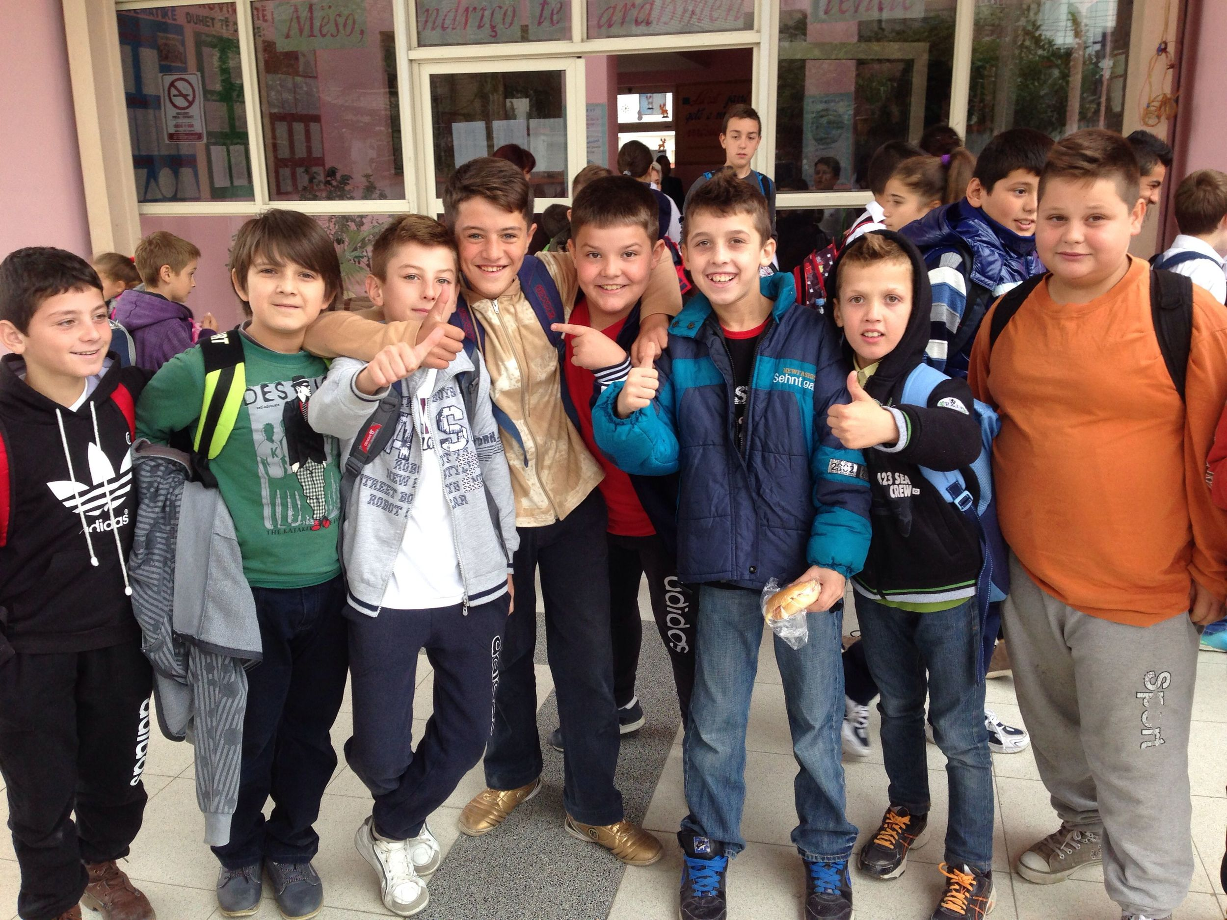 Future Albanian university students!