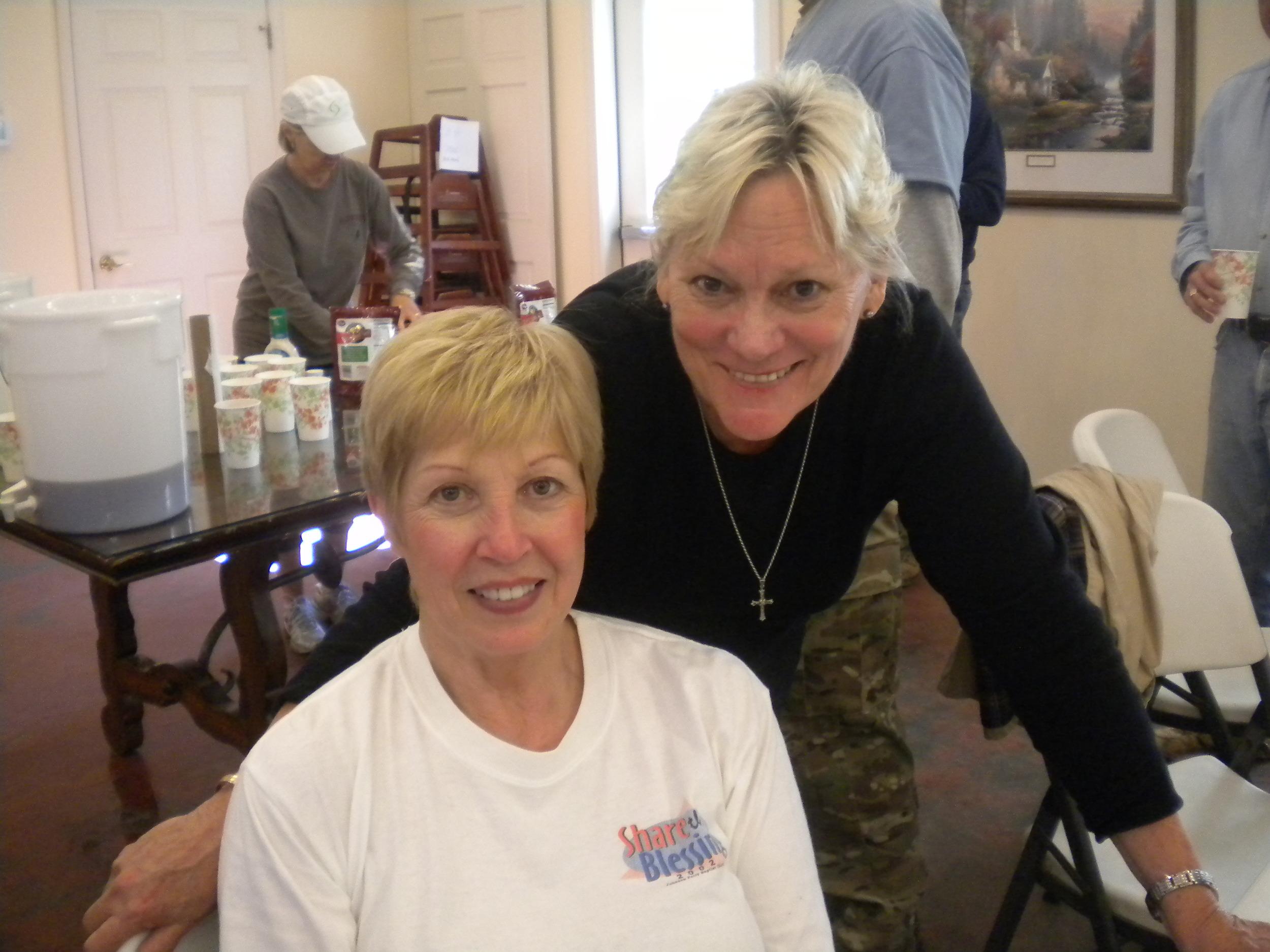 Kitchen Coordinators Extraodinaire: Marge Dussich & Marlena Higgins.