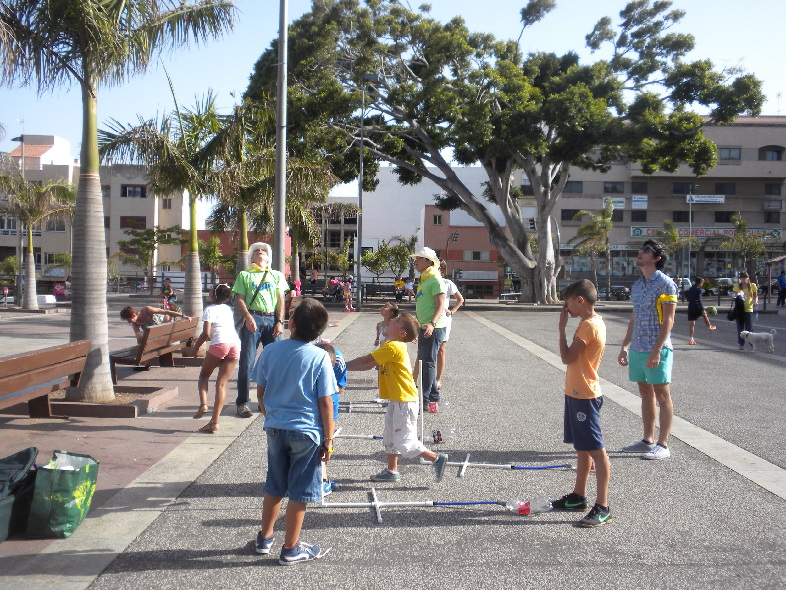 The kids loved launching rockets!