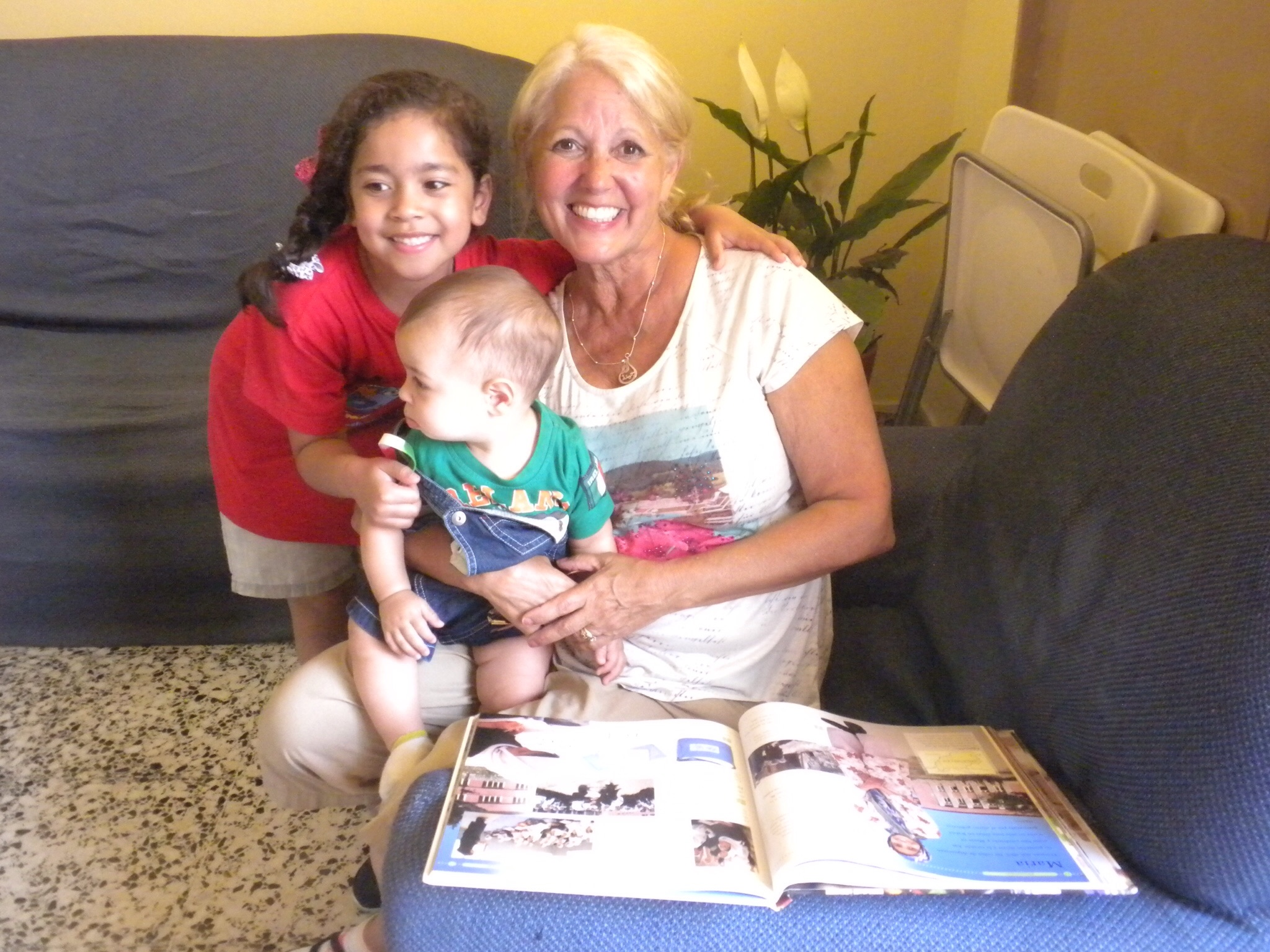 Gina enjoyed spending time with some of the children after lunch!