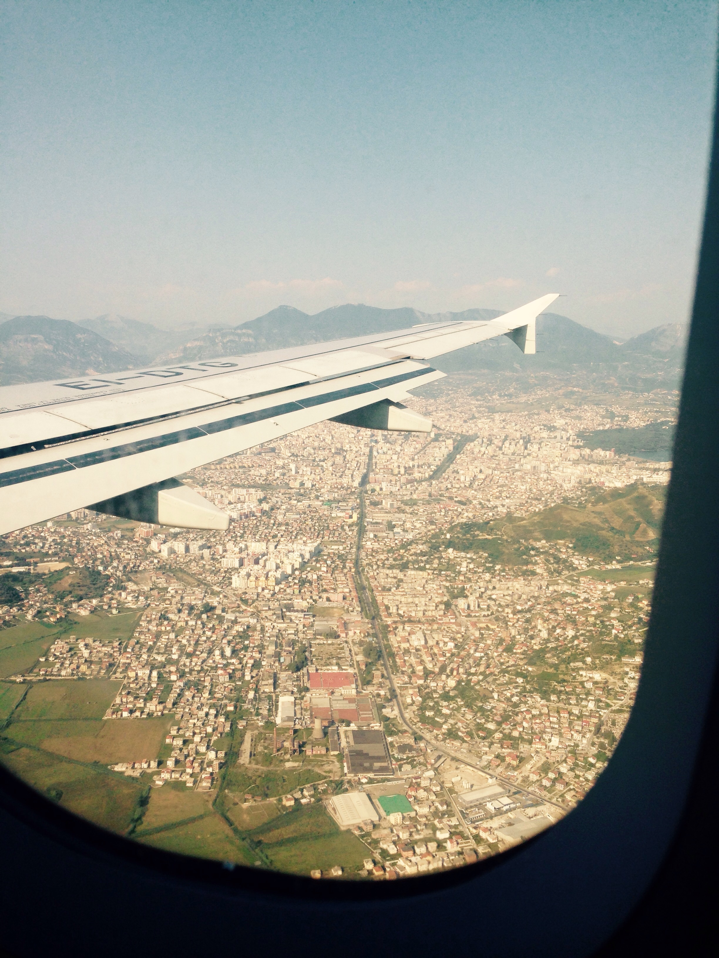Making our decent into Tirana.