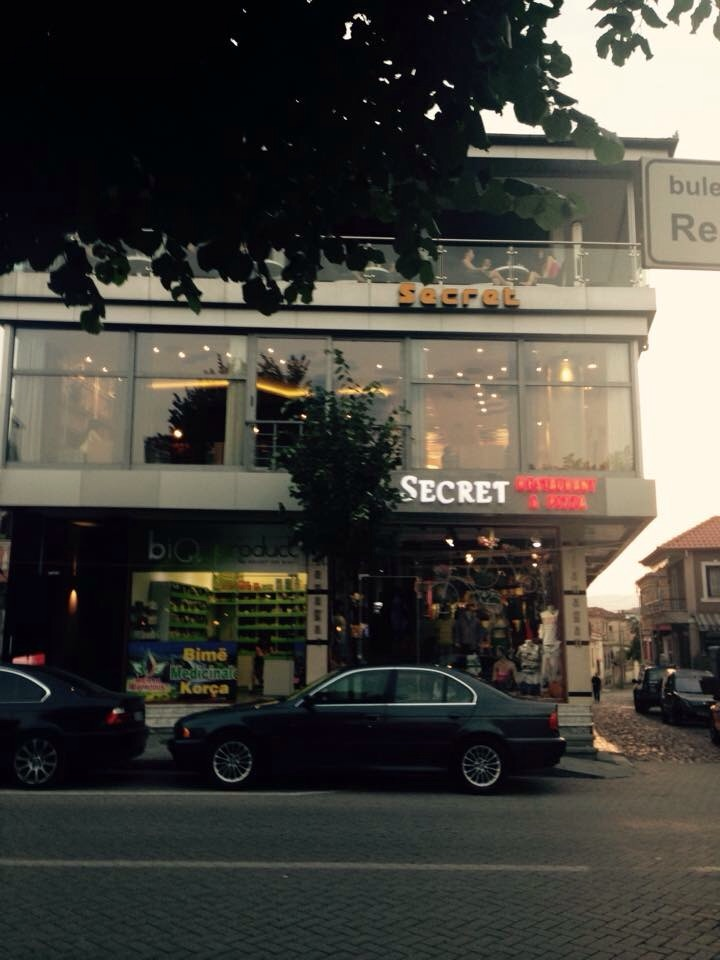 Located on the second floor of the building, Secret has only been in Korca for about a month.