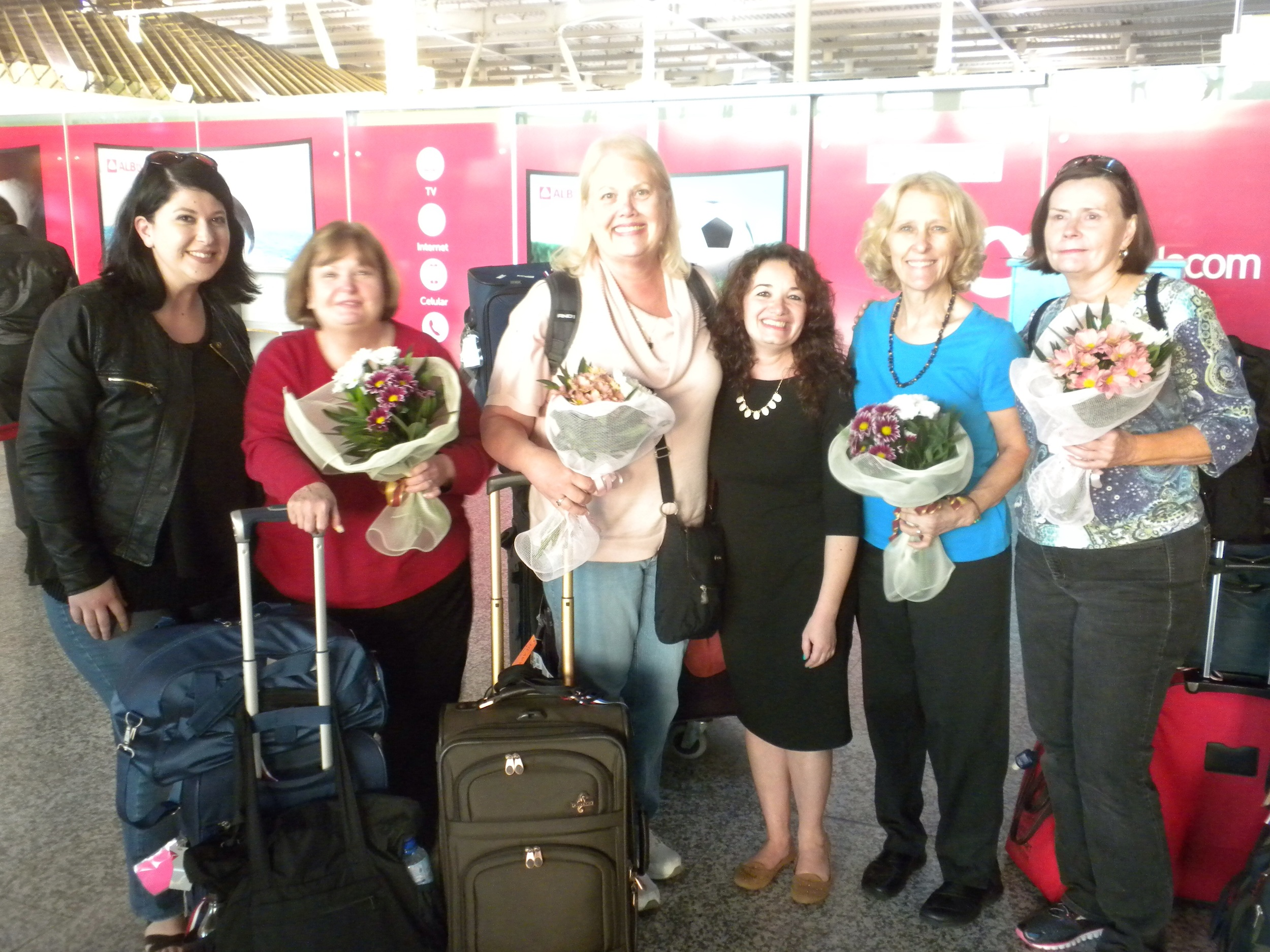 Savana, Sherry, Karen, Frida, Pam, and Judy with our beautiful bouquets