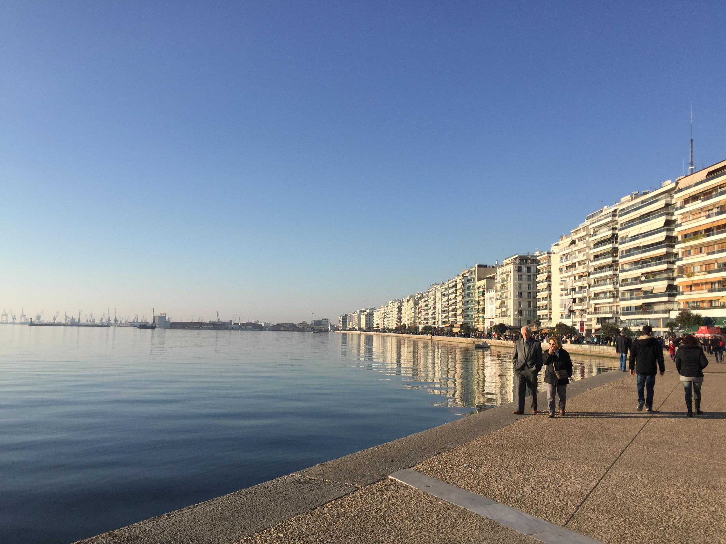 Along the boardwalk in Thessaloniki
