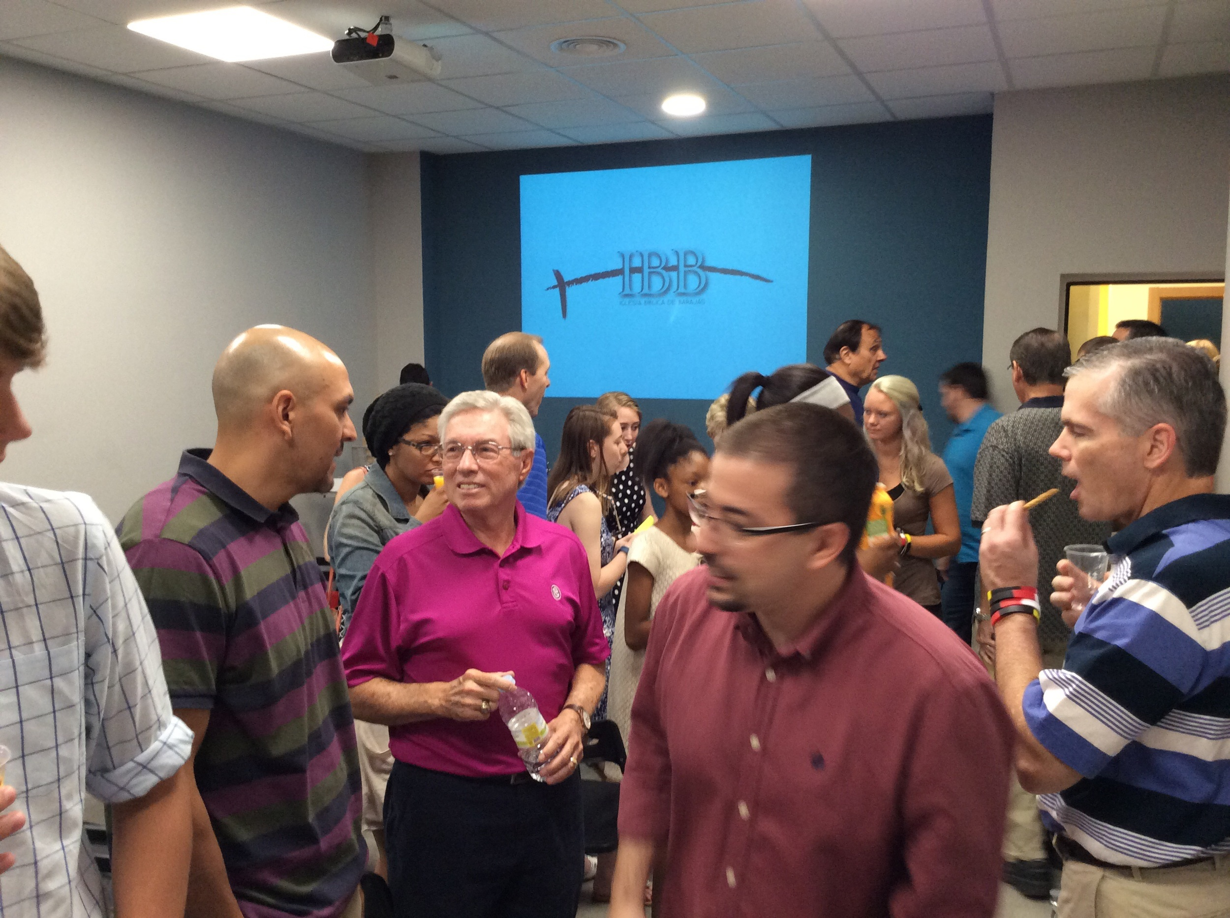 Fellowship time after the 9:30am service