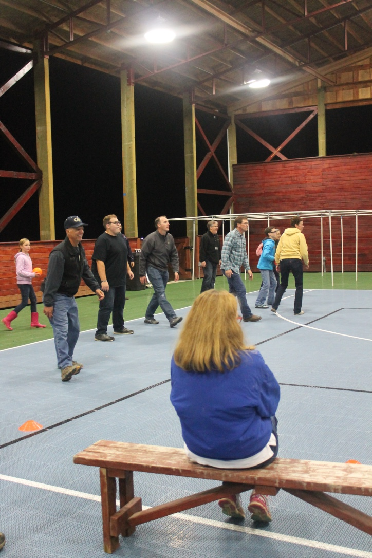The Johnson Ferry Team getting competitive in a fierce game of dodgeball! (...Although, I am pretty sure the Ranch kids beat us! They were really good!!!)