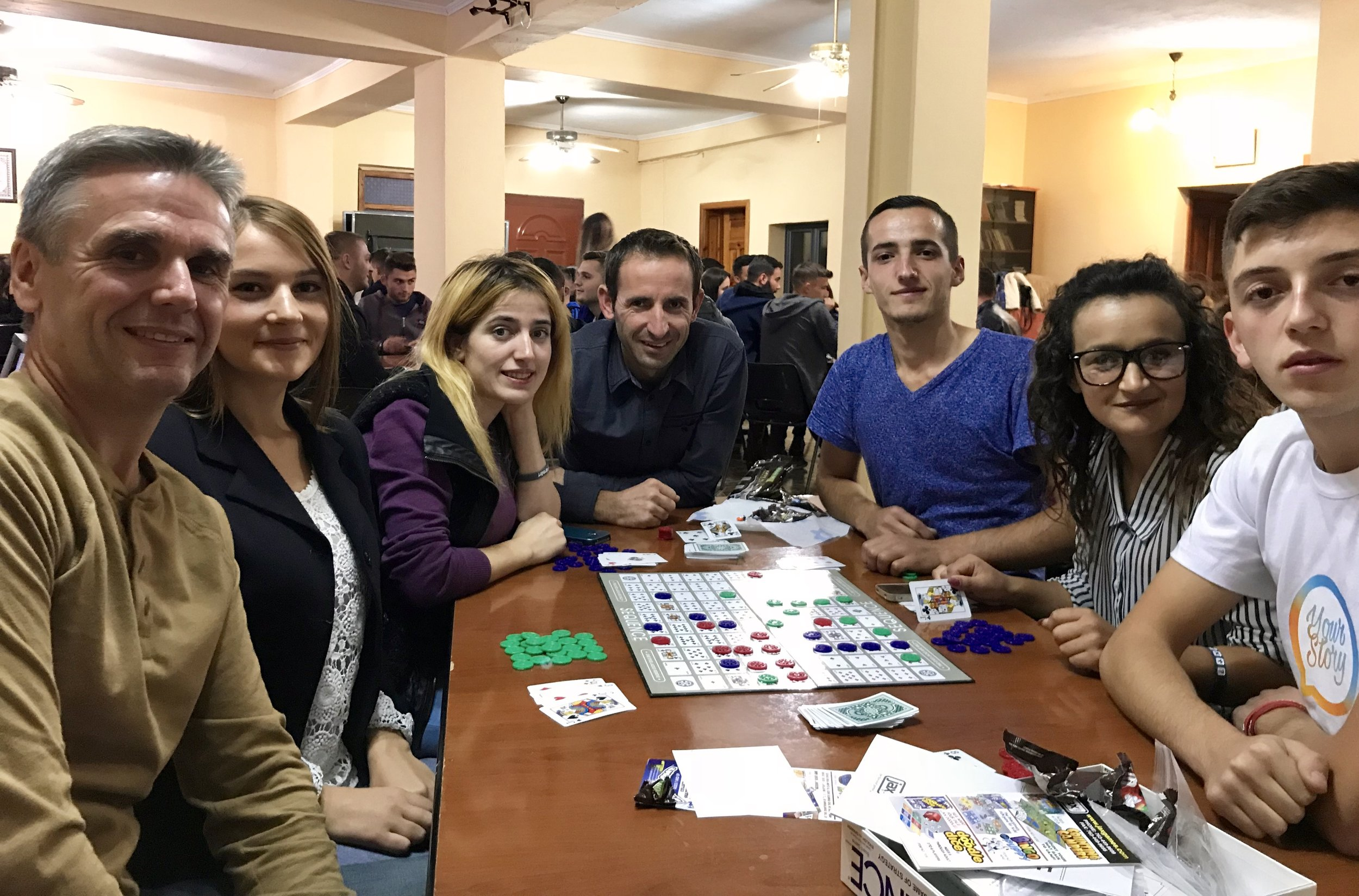 Game Night at the Elbasan campus