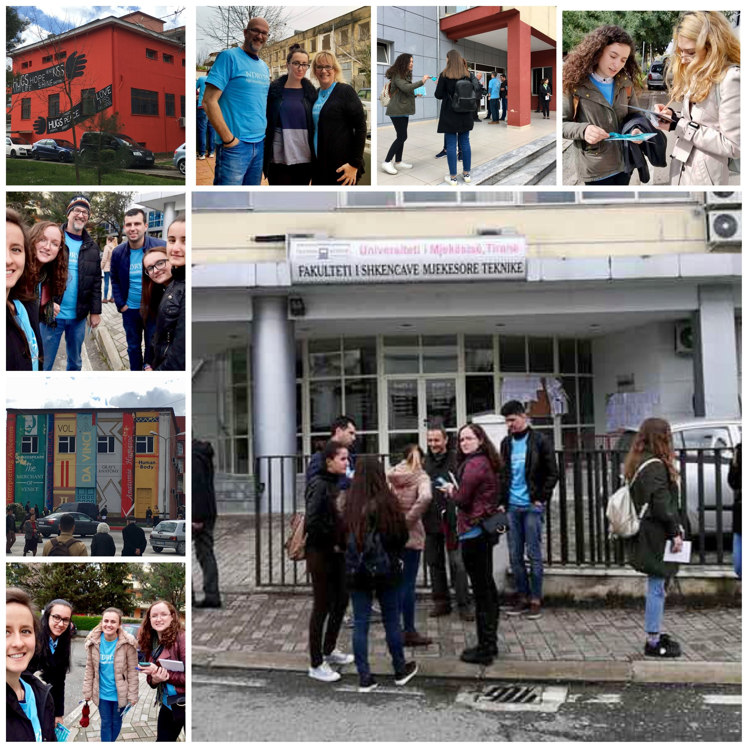 The medical university was our destination on Tuesday morning.