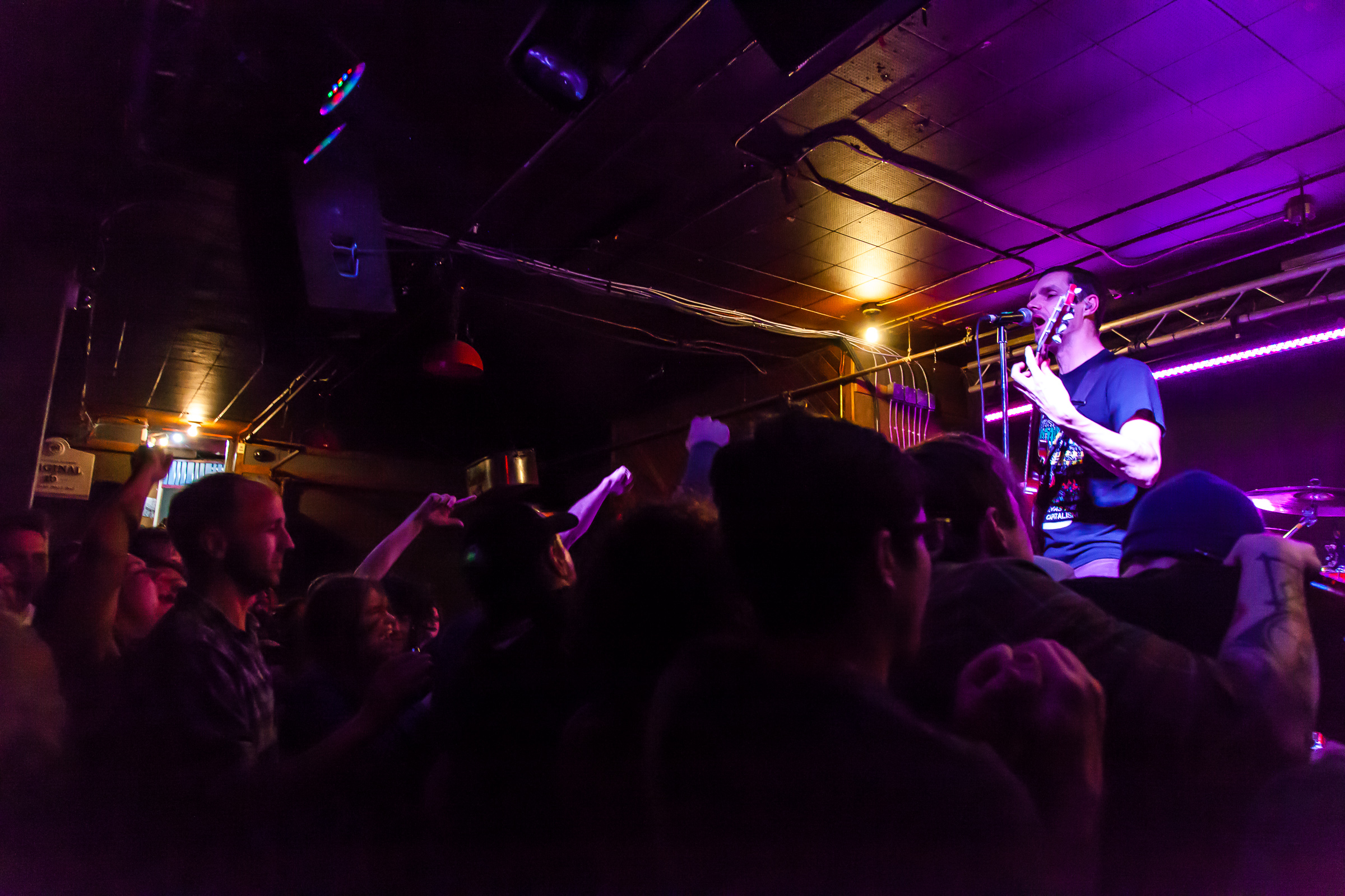 Propagandhi and the crowd at the Windsor