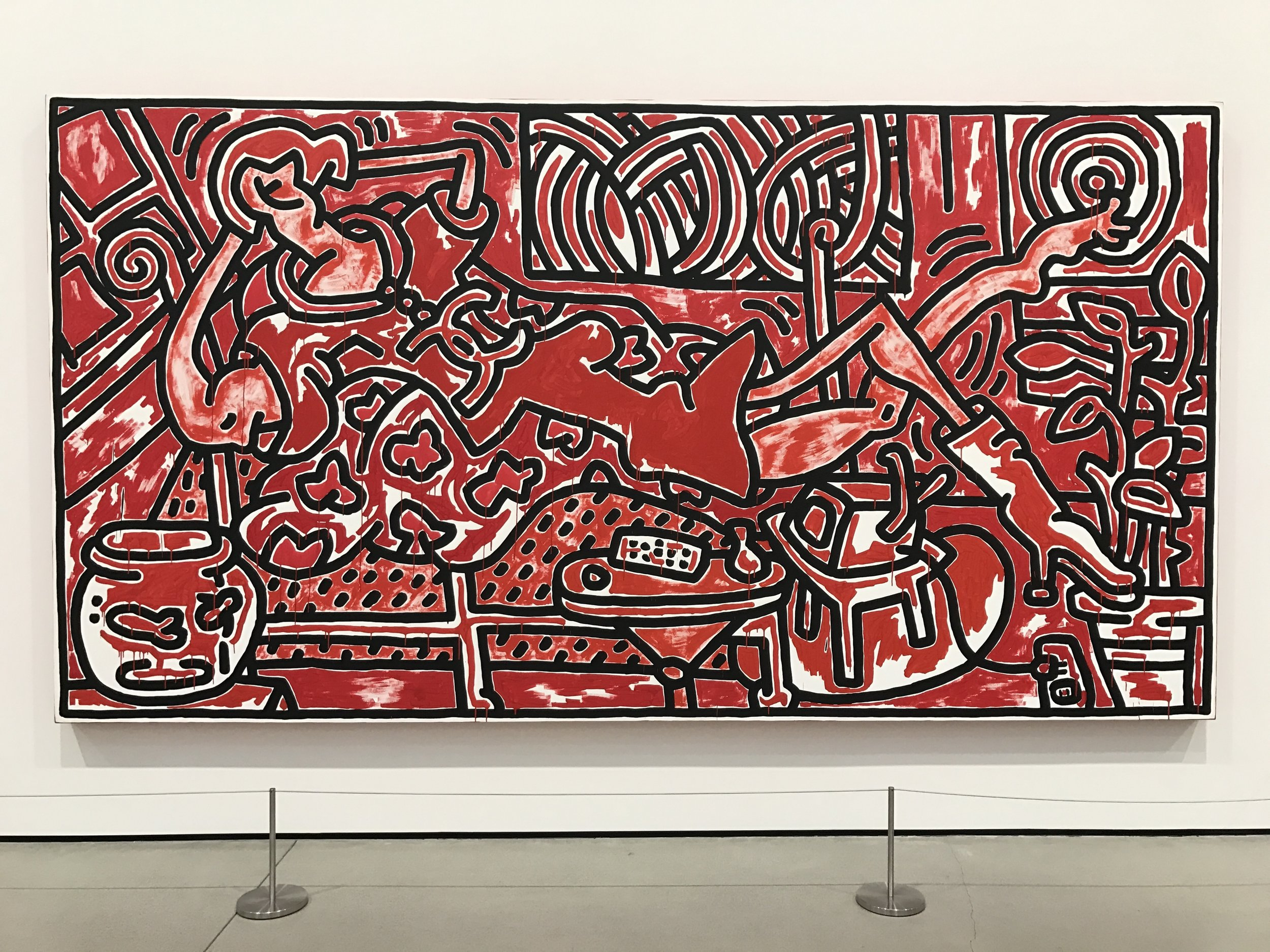 Any day with a Keith Harring is a good day...