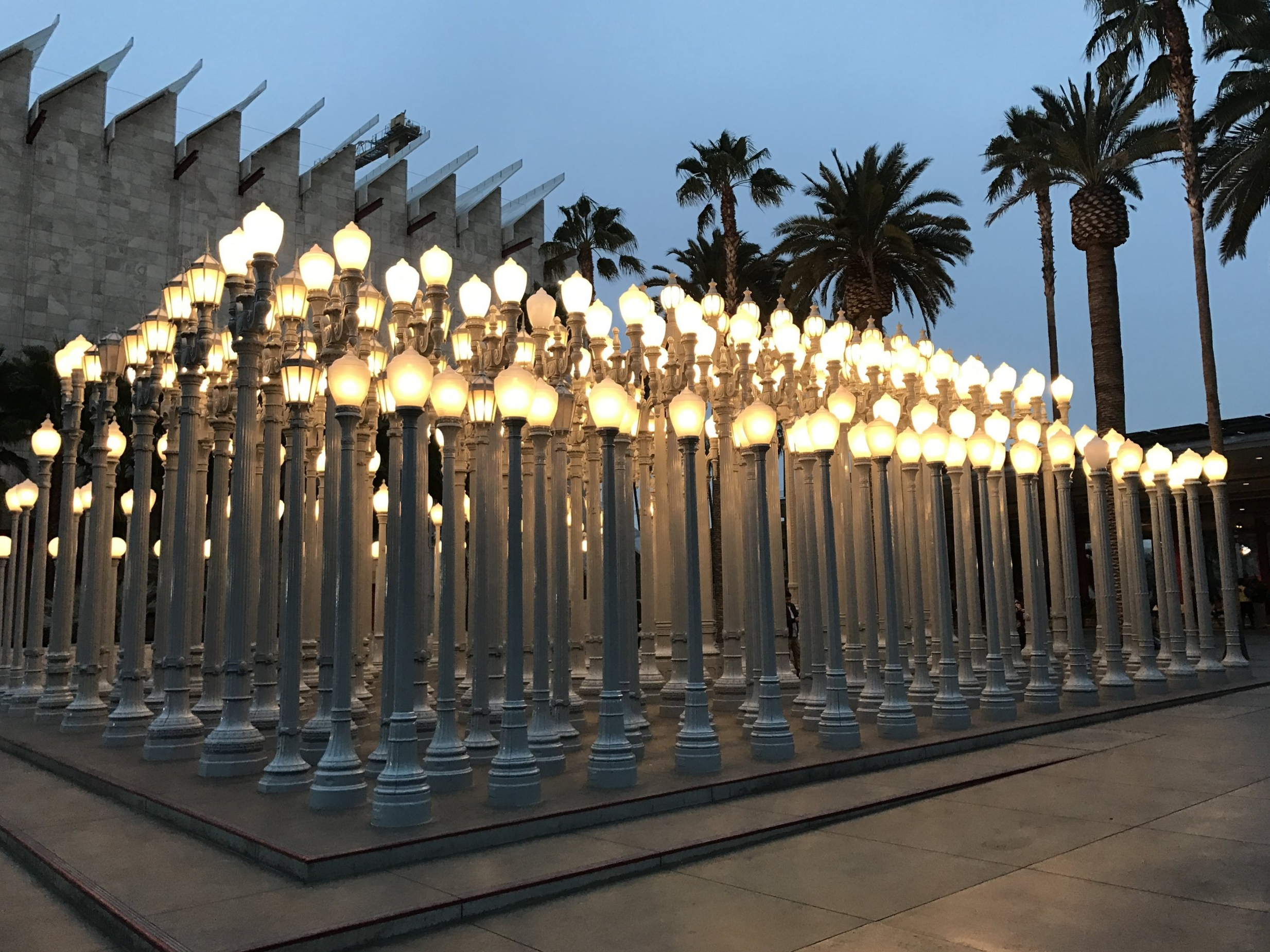 Obligatory LACMA shot of  Urban Light  by Chris Burden.