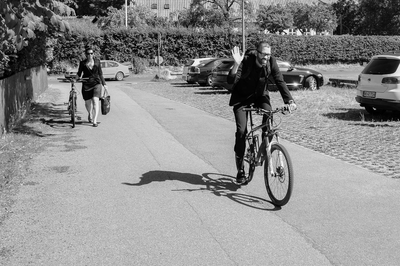 In Denmark guests bike to weddings
