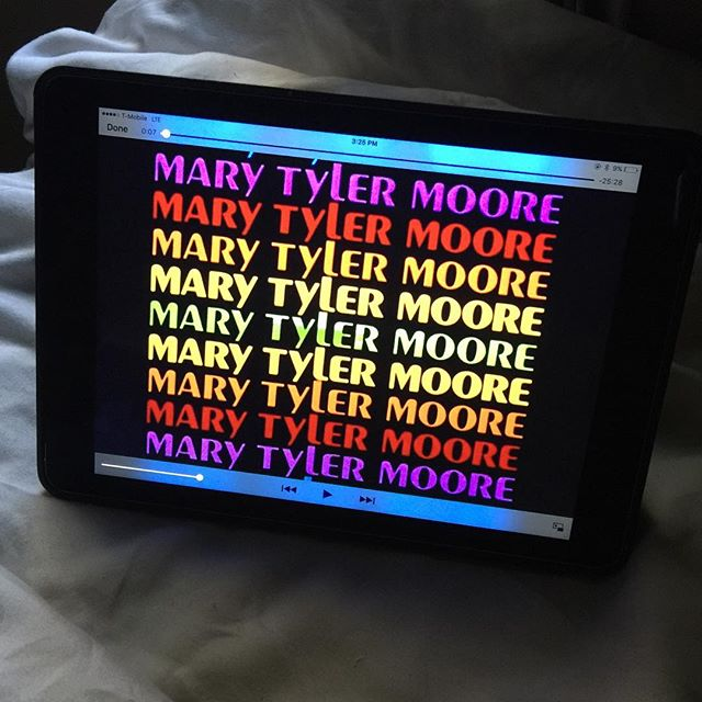 She helped us all keep our chins up and believe we might just make it after all. I love you Mary Tyler Moore. #marytylermoore