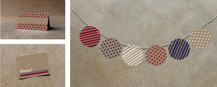 Place Cards and Bunting Banner