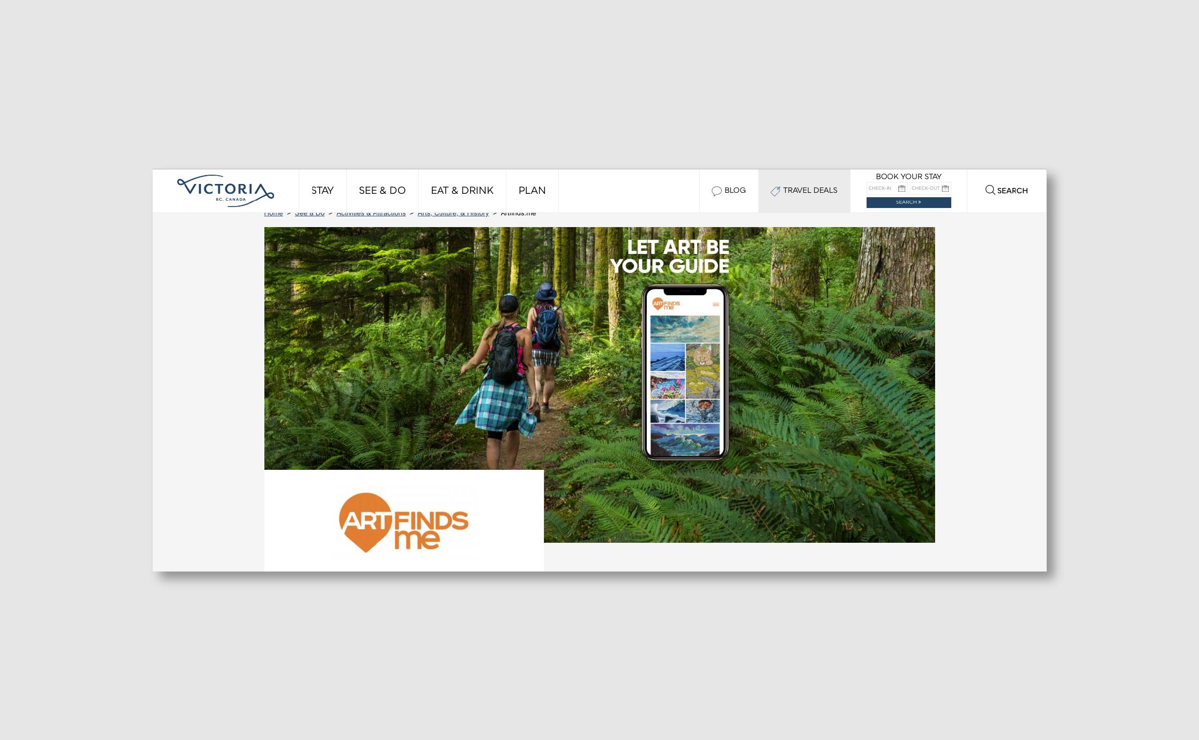 Tourism Victoria Website