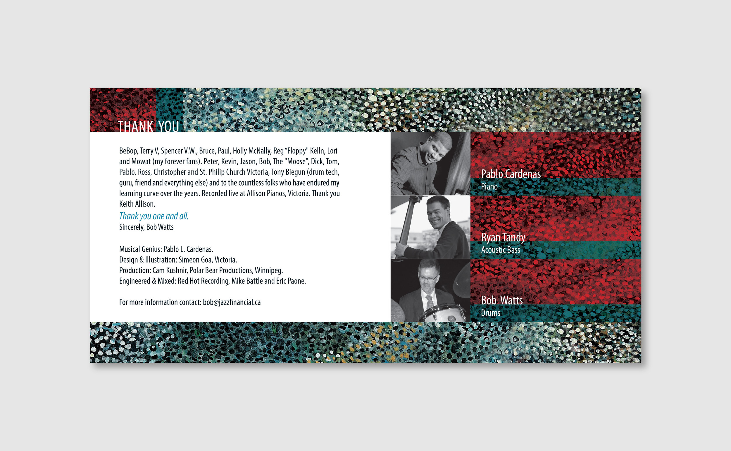 Interior of CD Booklet