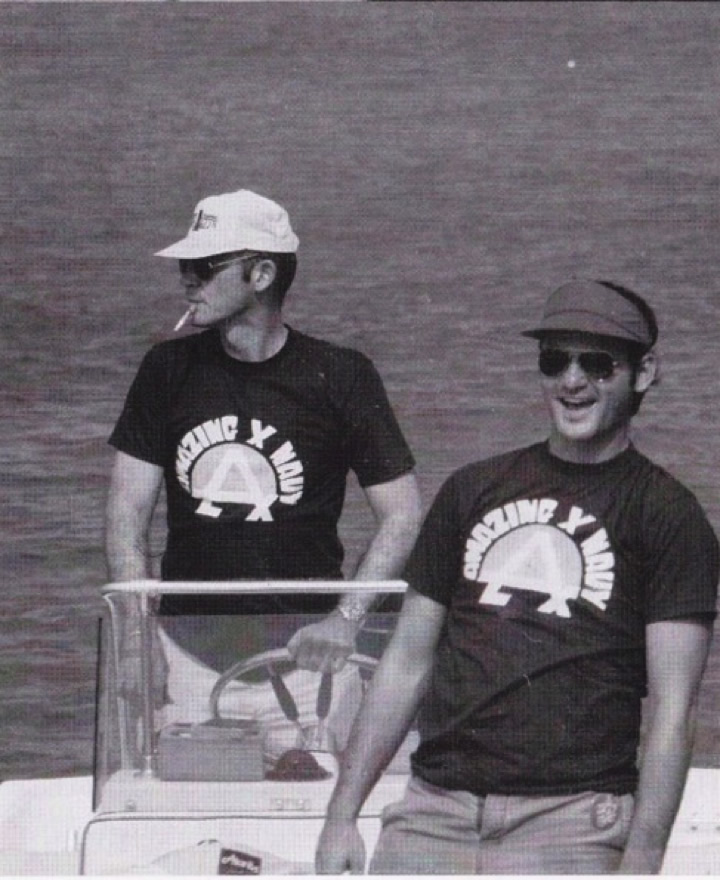 Hunter S. Thompson and Bill Murray, circa 1980.