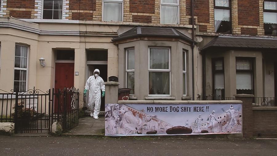 """""""The Heart Rocker"""",North Belfast,2011 Video still imageCourtesy of the artist"""