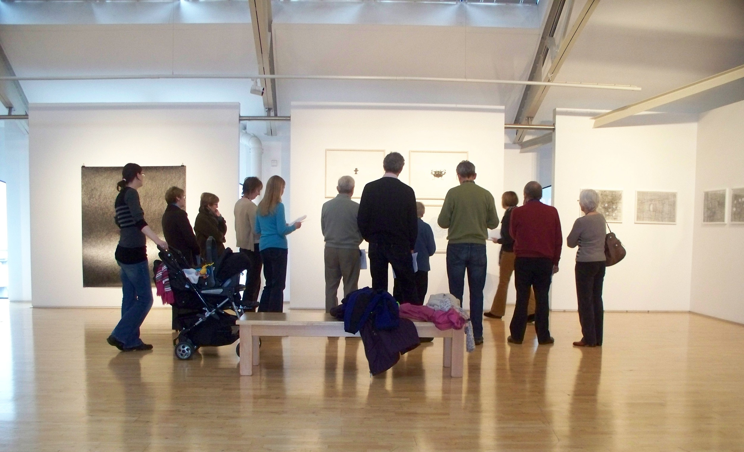 MCAC tour image from Into Irish Drawing Exhibition