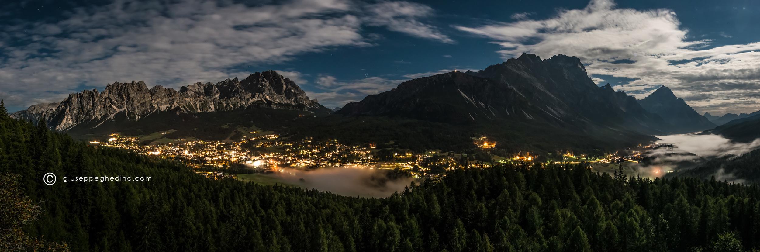 Cortina d'Ampezzo: panoramica dalla galleria di Pocol.