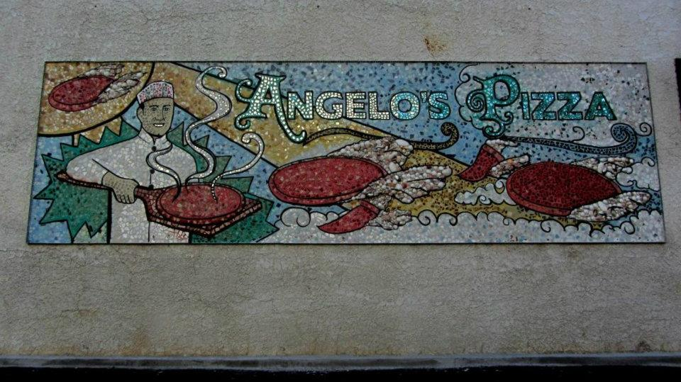 Angelo's Pizza Mural  Genesee St., Downtown Auburn, NY  (photo by Christopher Molloy)