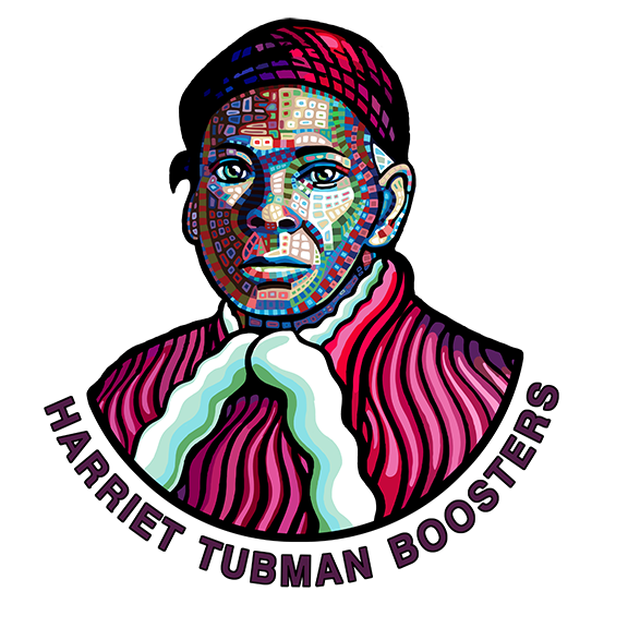 "The Harriet Tubman design was also chosen to be a graphic for  The Harriet Tubman Boosters , an Auburn, NY organization that endeavors ""  to keep the memory of Harriet Tubman's remarkable life's work in the forefront, constantly shining a light for all who pursue a free, peaceful and productive society ""."