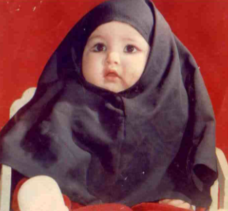 Maryam as a baby