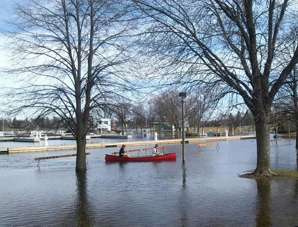 Canoeing in Del Crary Park, via @ScrappyLilAngel on Twitter