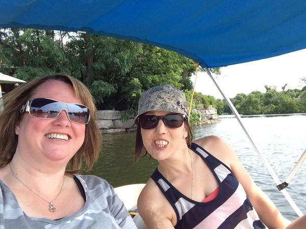 Selfie: Tracey Johnston and Julie Morris