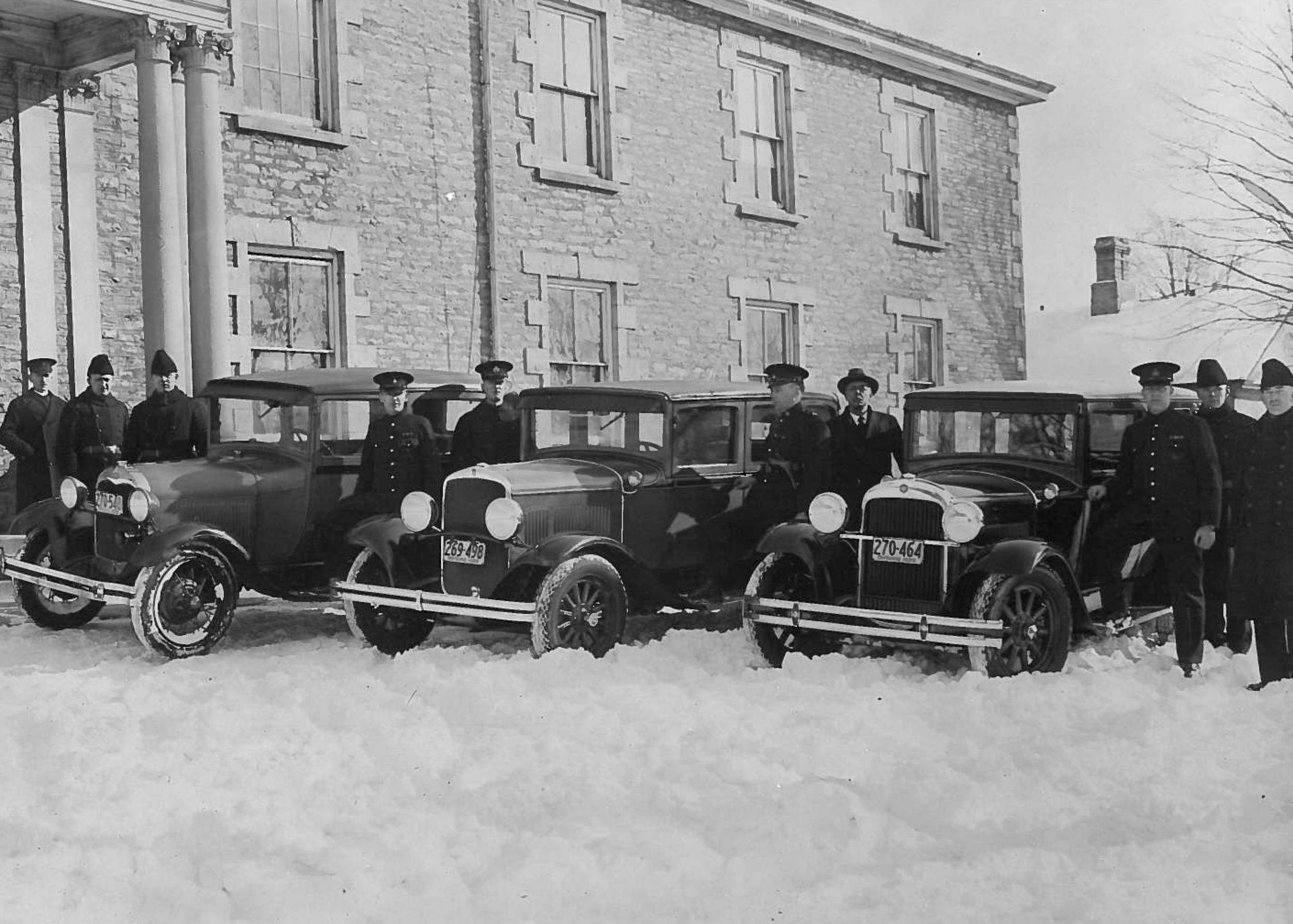 1928, Peterborough police vehicles