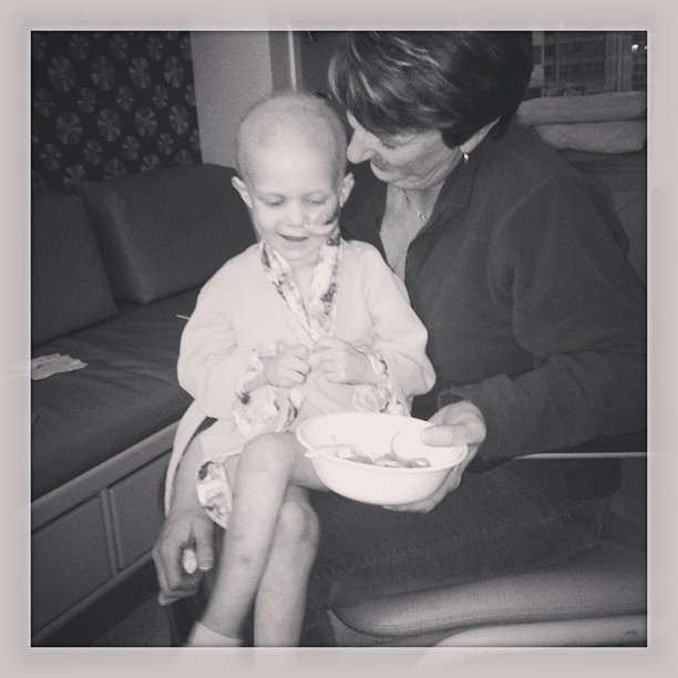 Sharon with her granddaughter Maci (who is now cancer free)