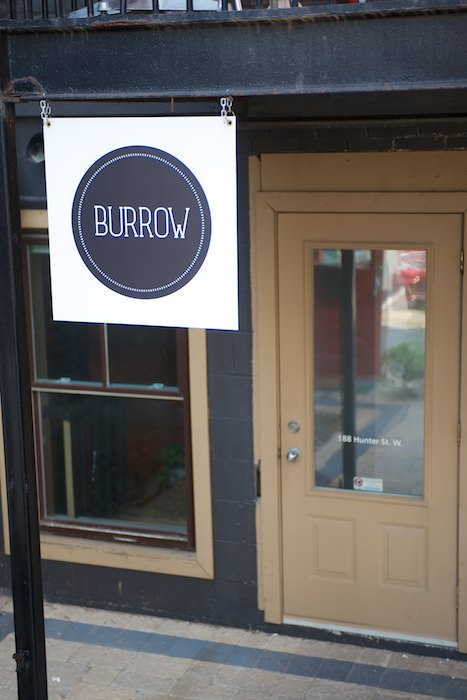 Burrow's current location 188 Hunter St. W.
